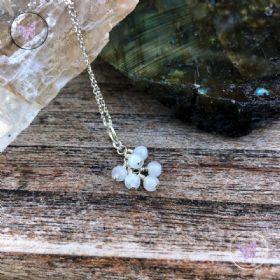 Moonstone Cluster June Birthstone Necklace